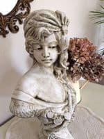 'Bohemia'  Female Bust Gypsy Girl art nouveau statue